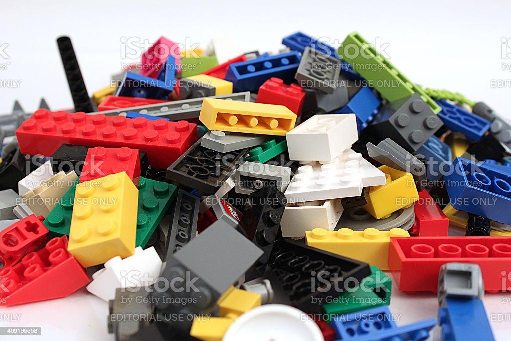 Pile of Bricks stock photo