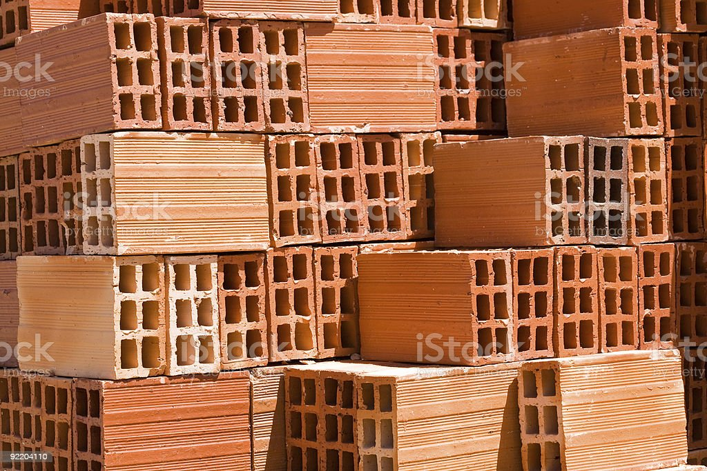 Pile Of Bricks royalty-free stock photo