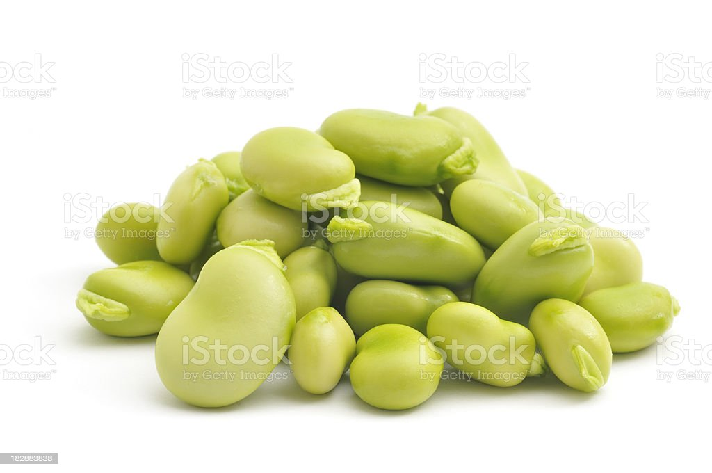 Pile of Broad Beans(Fava Beans) stock photo