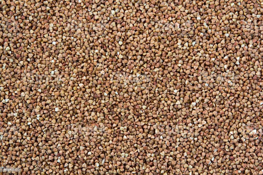Pile of buckwheat seeds stock photo