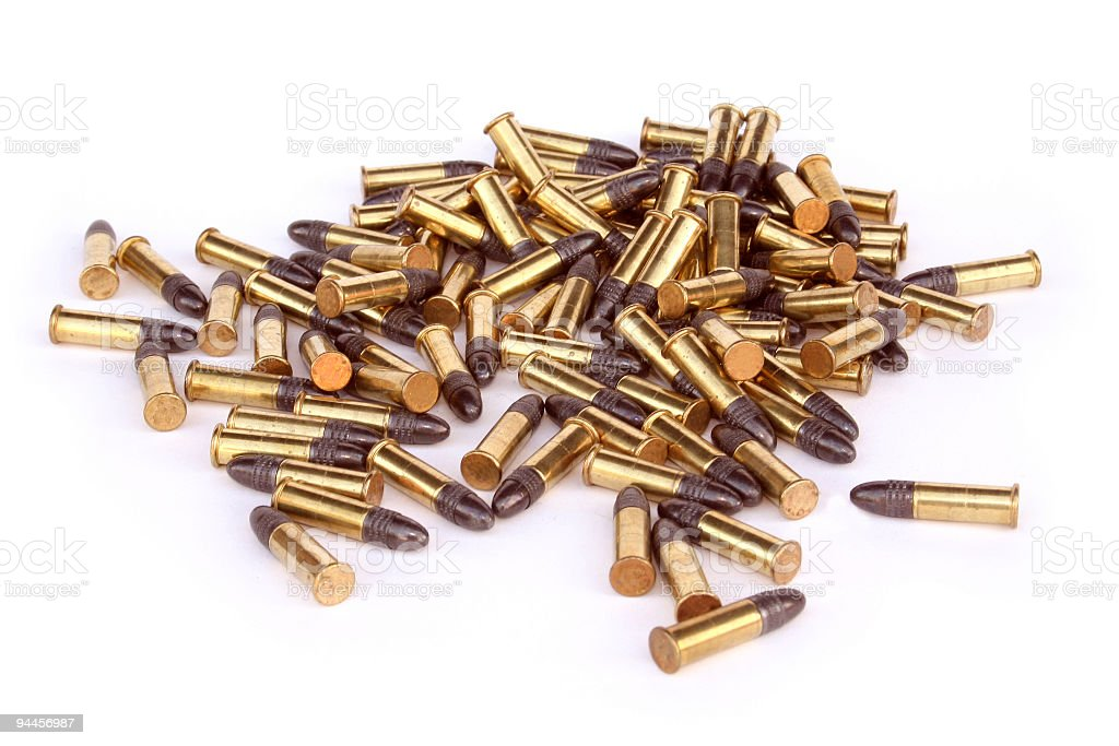 Pile of Bullets stock photo