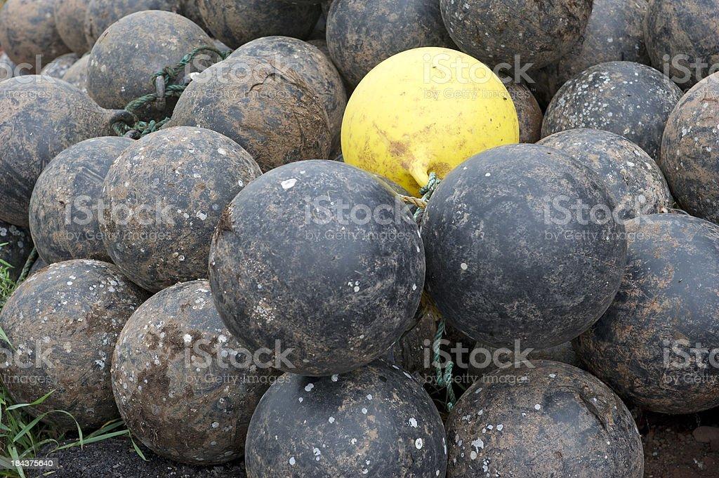 Pile of buoys royalty-free stock photo