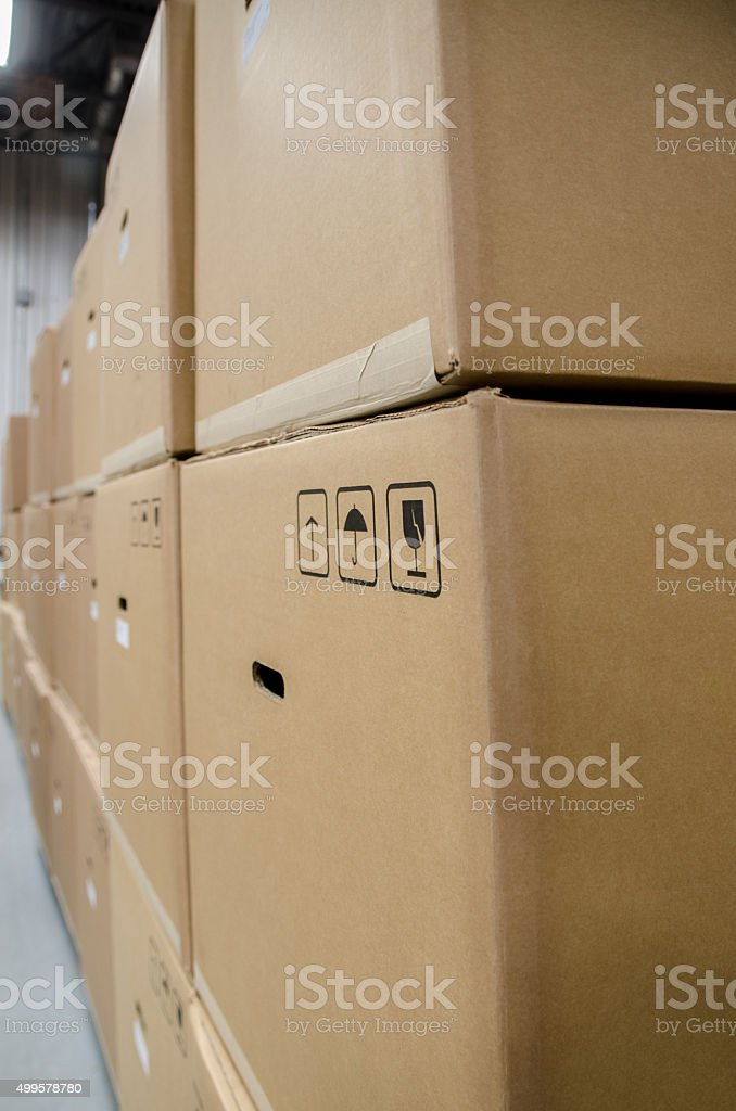 Pile of carton boxes ready to ship