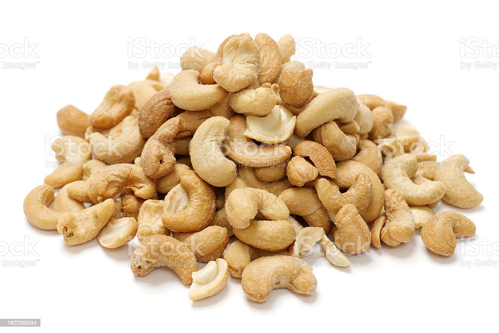 Pile of Cashew Nuts stock photo