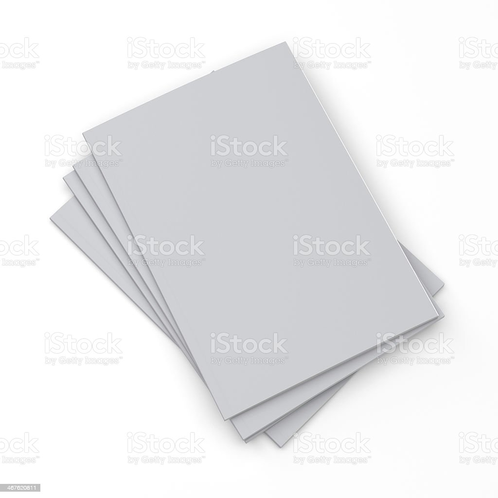 pile of catalogs in a4 size stock photo