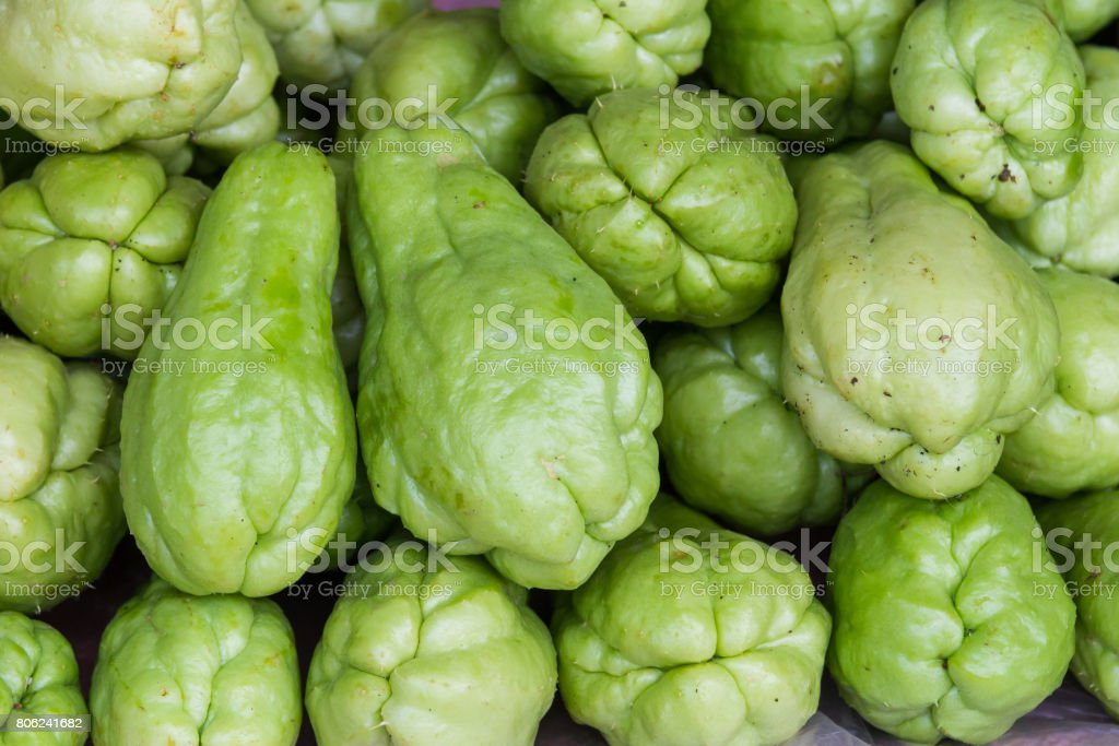 pile of Chayote stock photo
