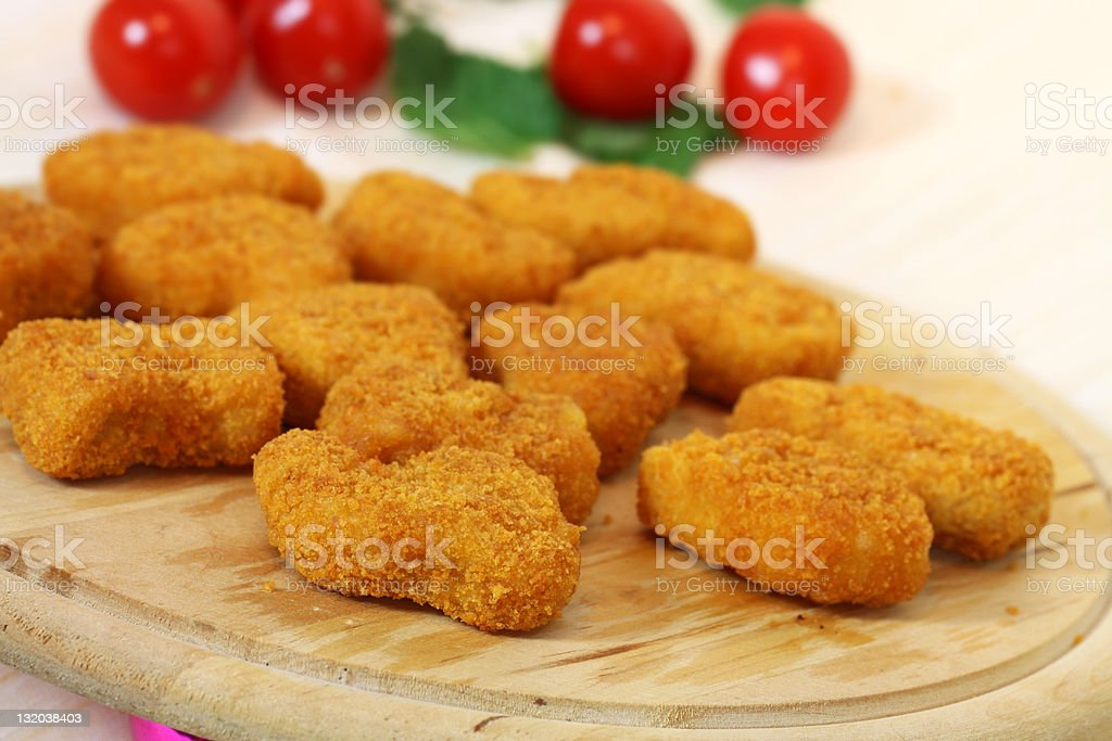 Pile of Chicken Tenders stock photo