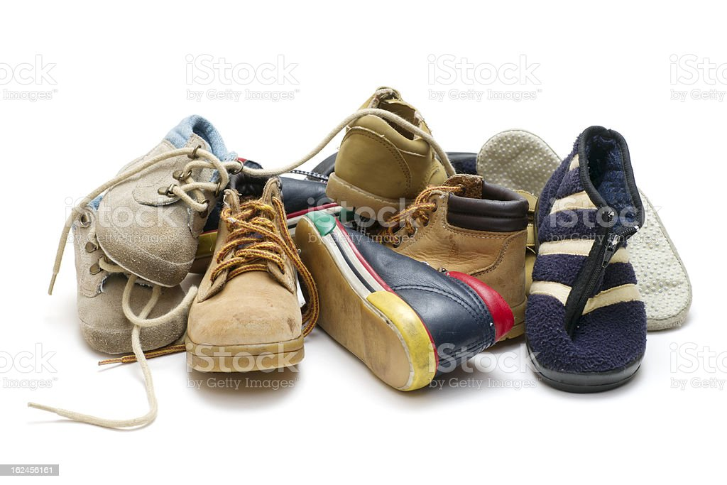 Pile of Child's Boots royalty-free stock photo