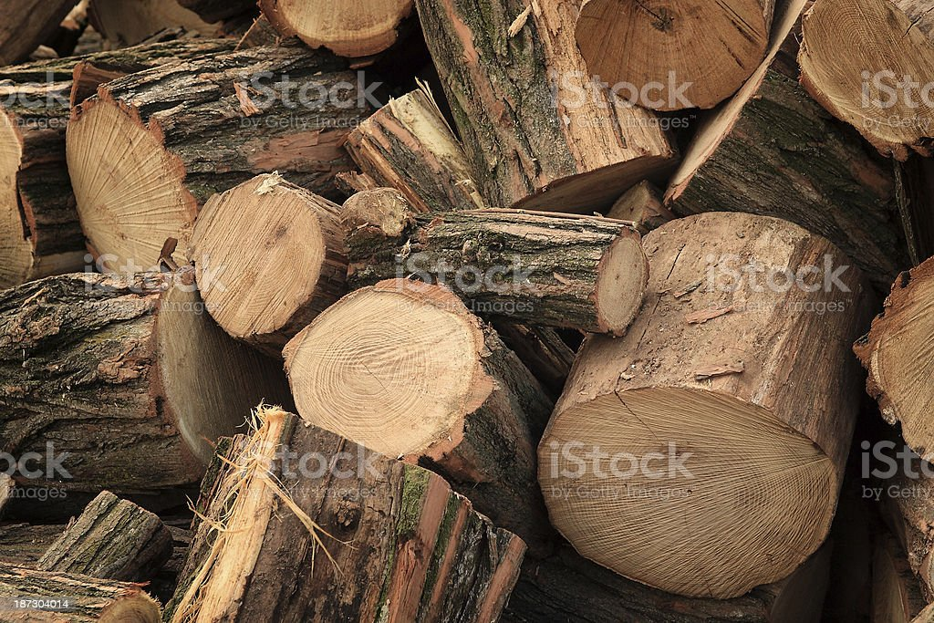 Pile of chopped fire wood royalty-free stock photo