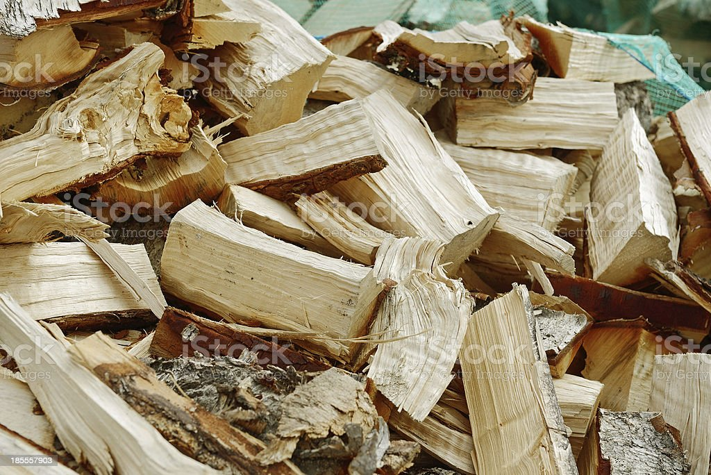 Pile of Chopped Firewood royalty-free stock photo