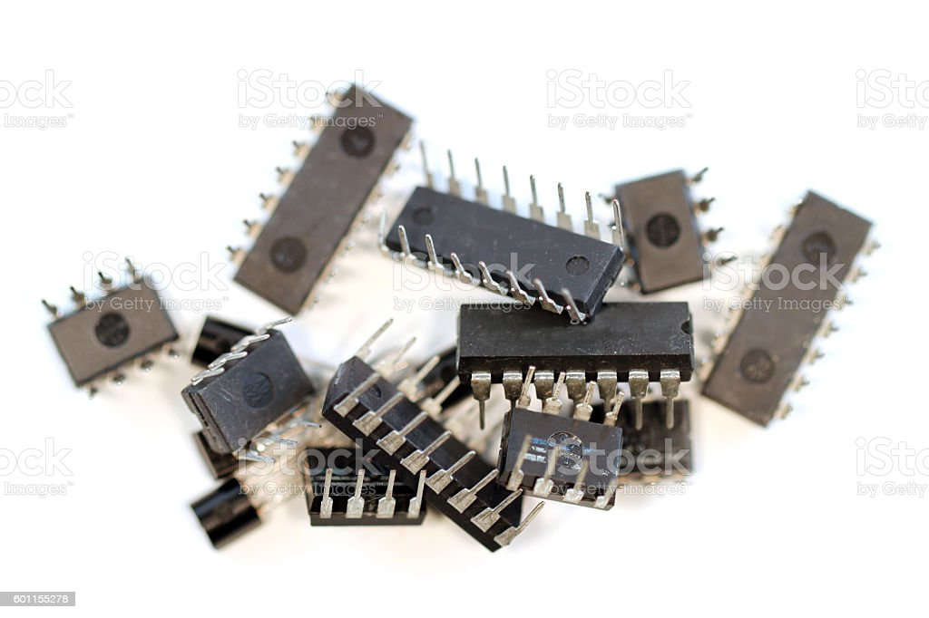 Pile of Circuits stock photo
