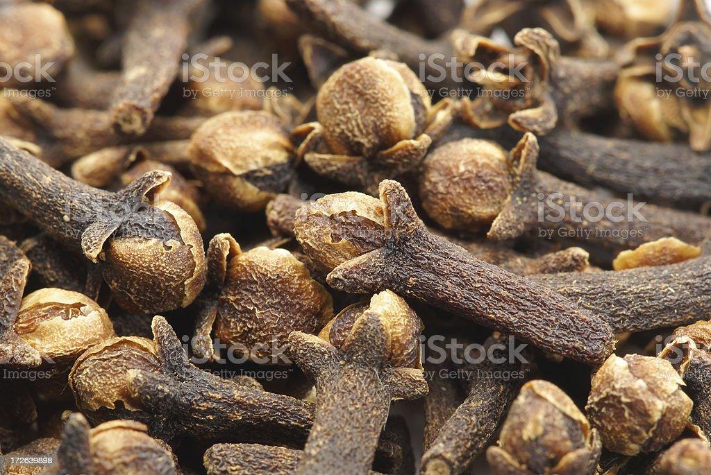 Pile of cloves stock photo