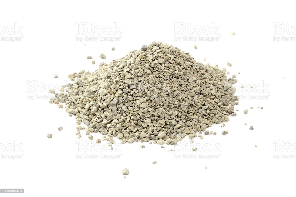 Pile of Clumping Cat Litter stock photo