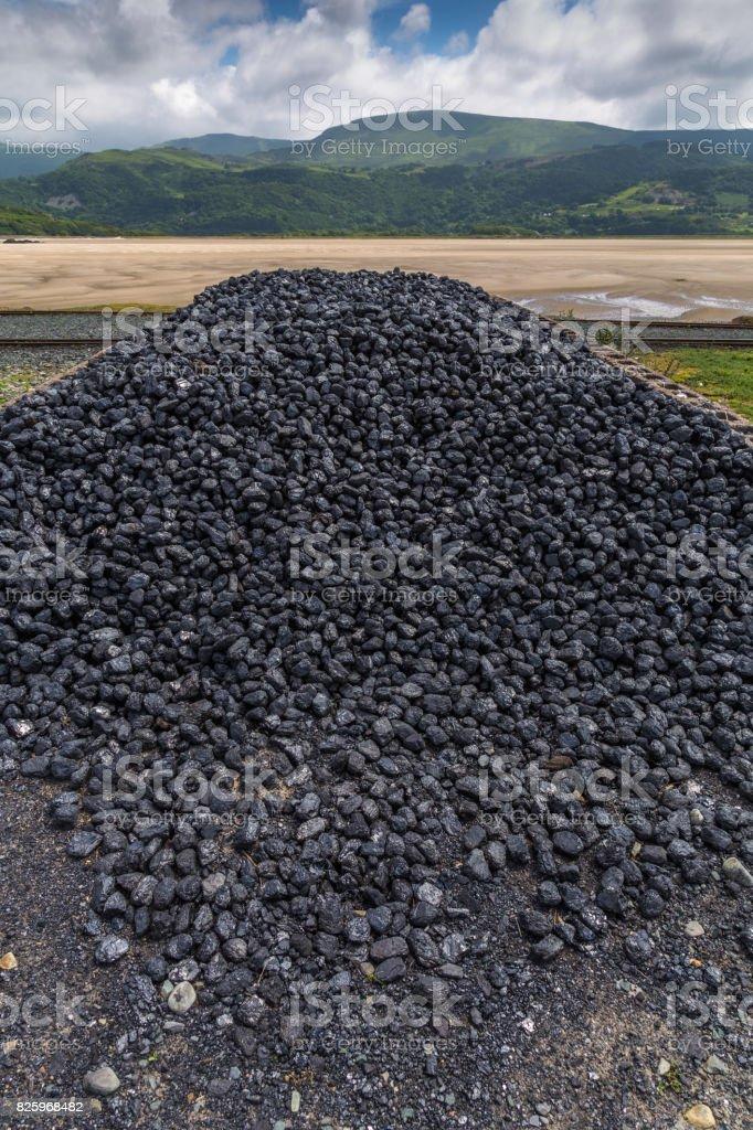 Pile of coal stock photo
