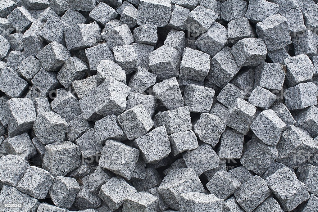 Pile of cobblestones royalty-free stock photo