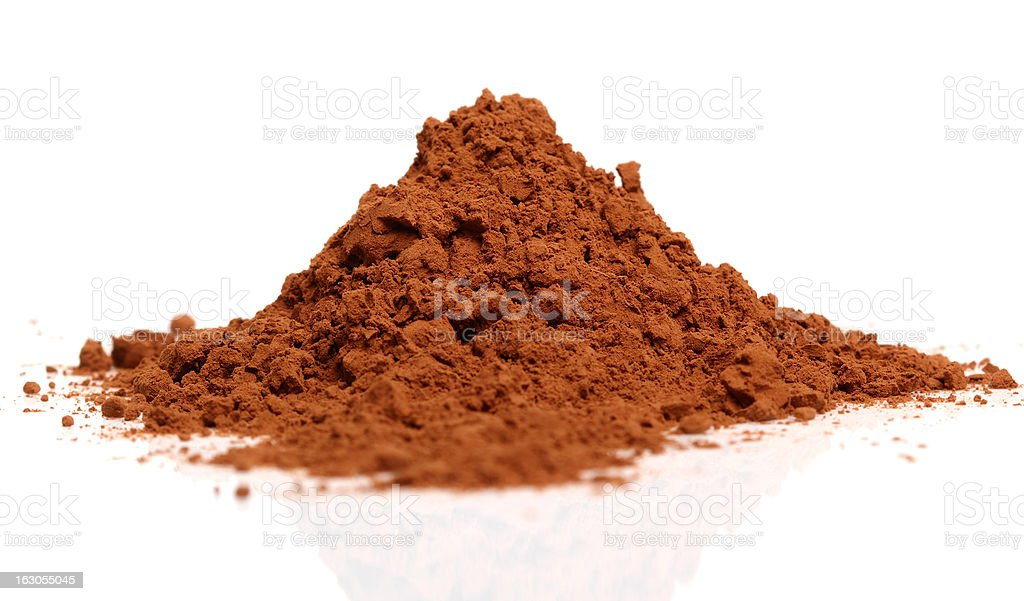 Pile of Cocoa Powder stock photo