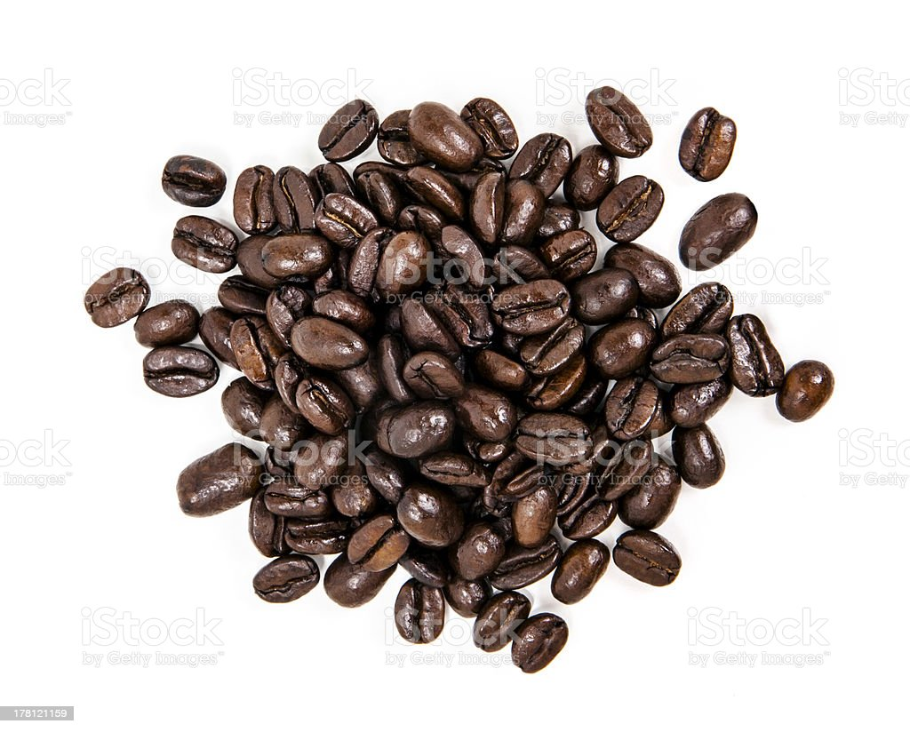 Pile of Coffee Beans royalty-free stock photo