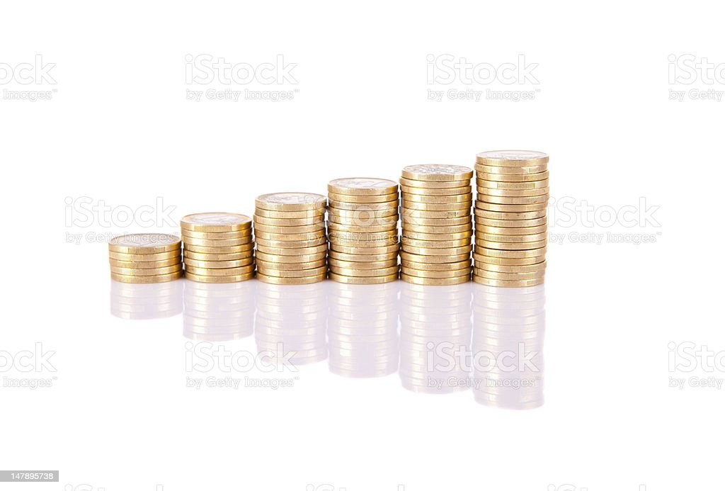 Pile of coins royalty-free stock photo