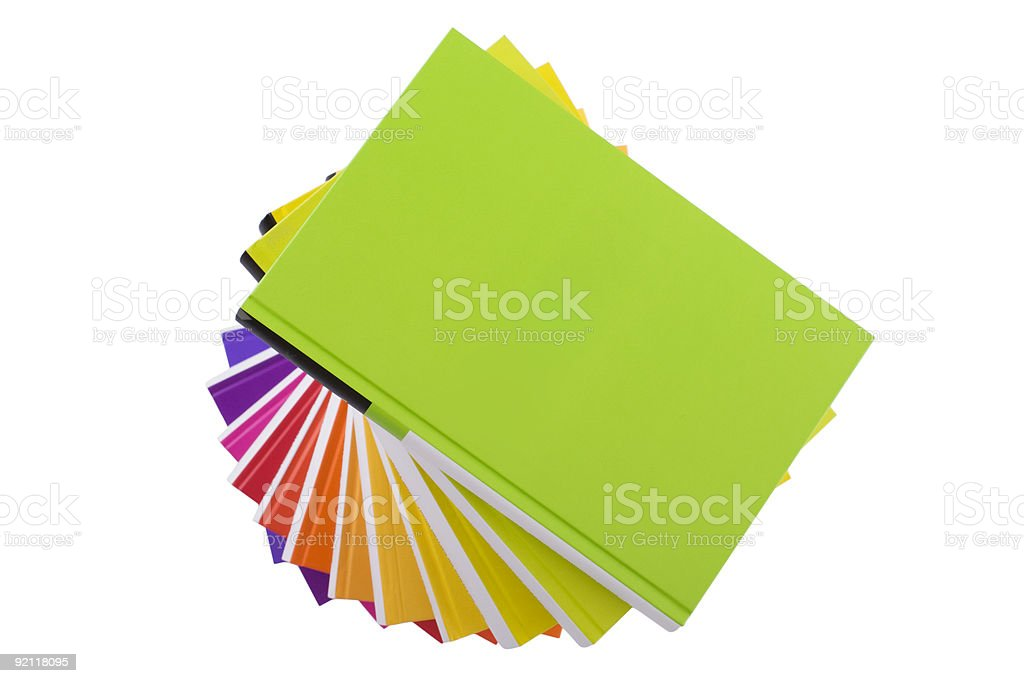 Pile of colorful books royalty-free stock photo