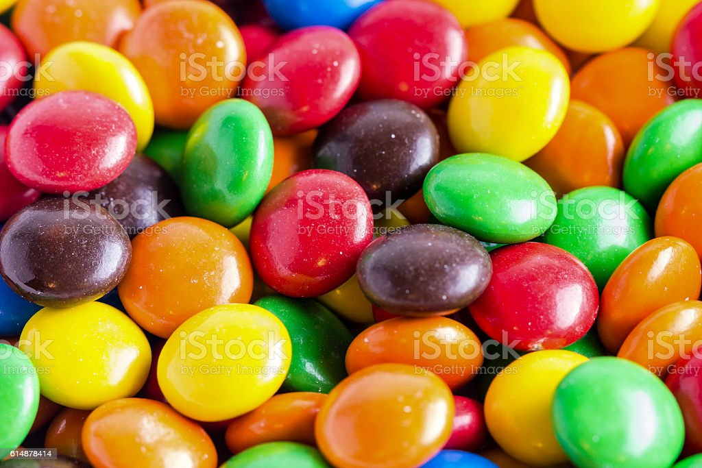 Pile of colorful candy stock photo