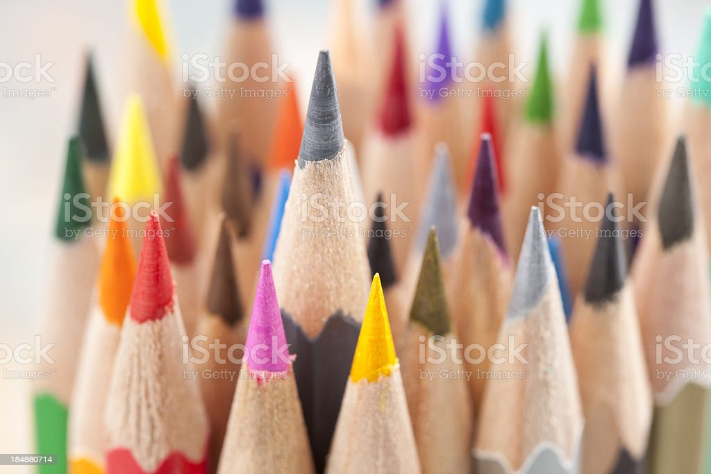 Pile of colorful crayons. royalty-free stock photo