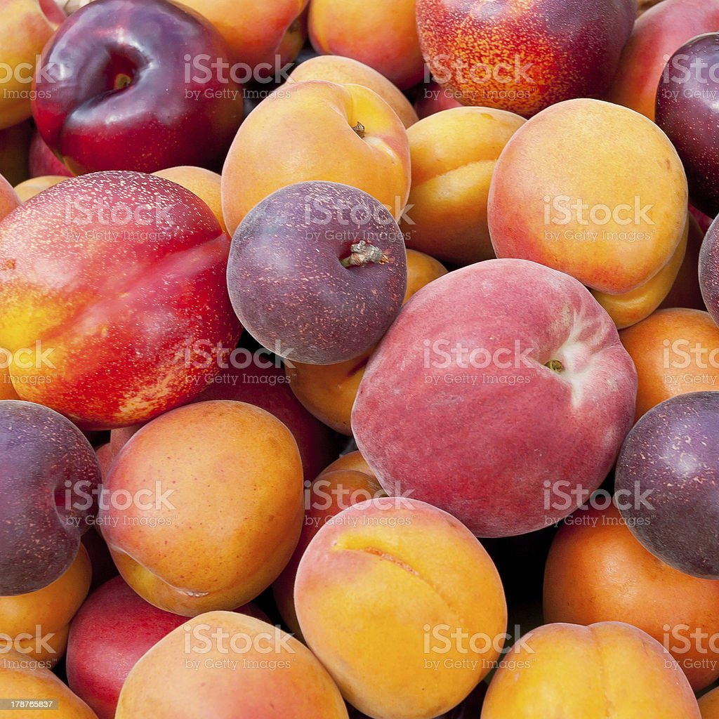 Pile of colorful fruits. stock photo