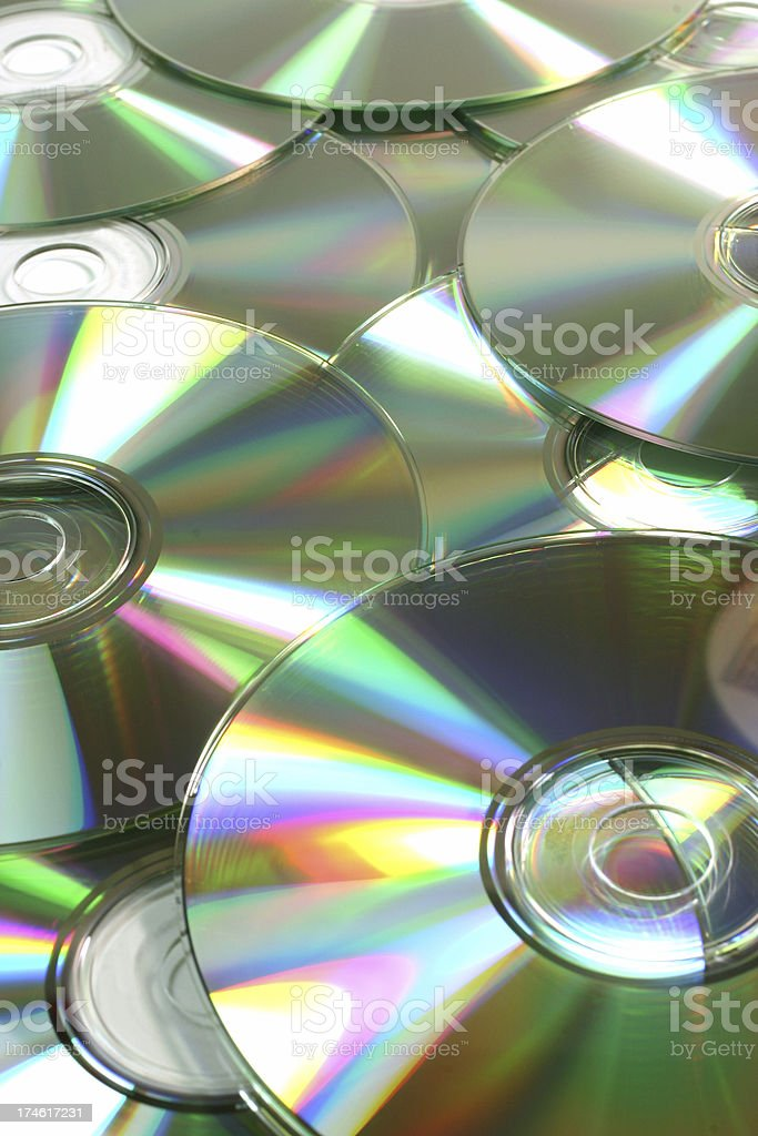 Pile of Compact Disc royalty-free stock photo