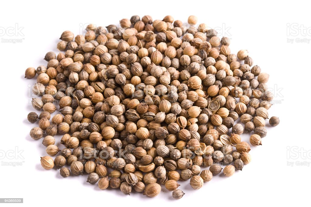 Pile of coriander close up isolated royalty-free stock photo
