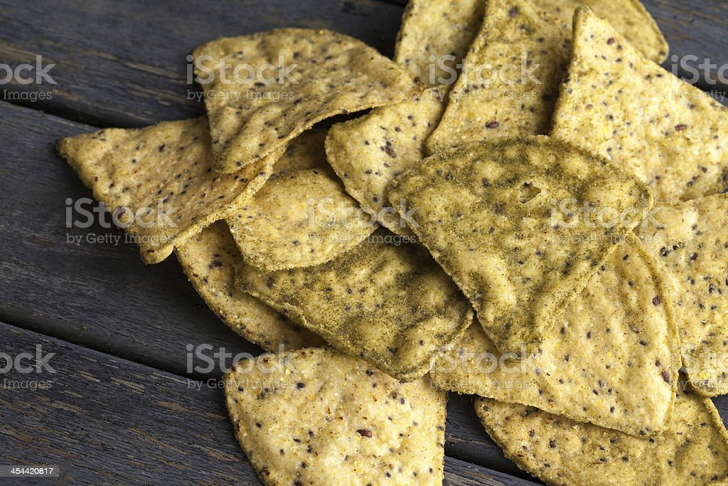 Pile of corn chips royalty-free stock photo
