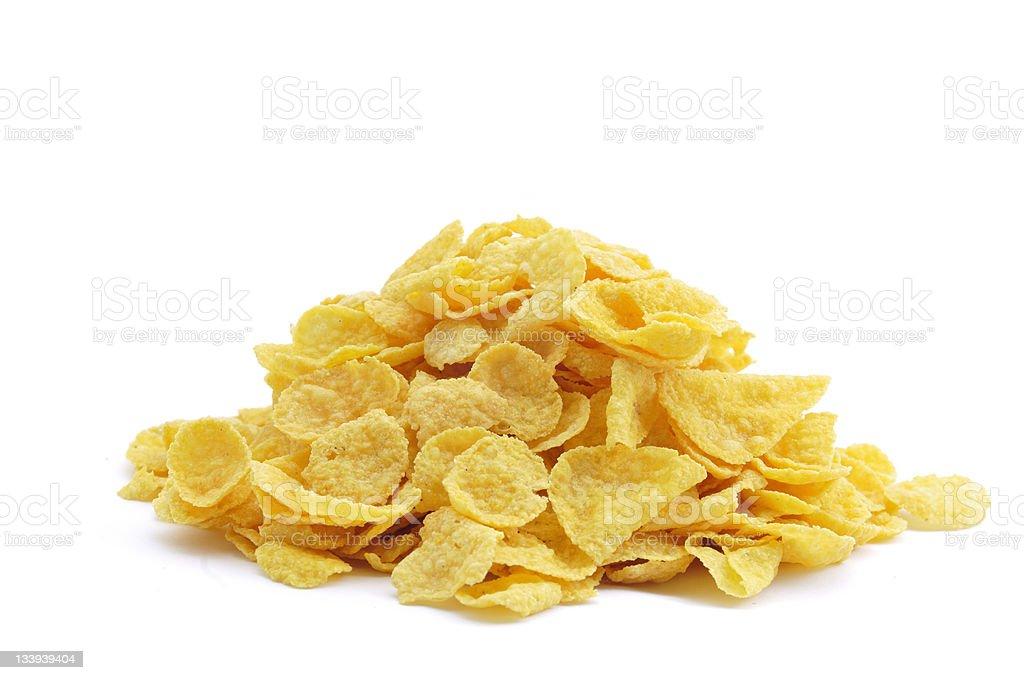 Pile of Cornflakes stock photo