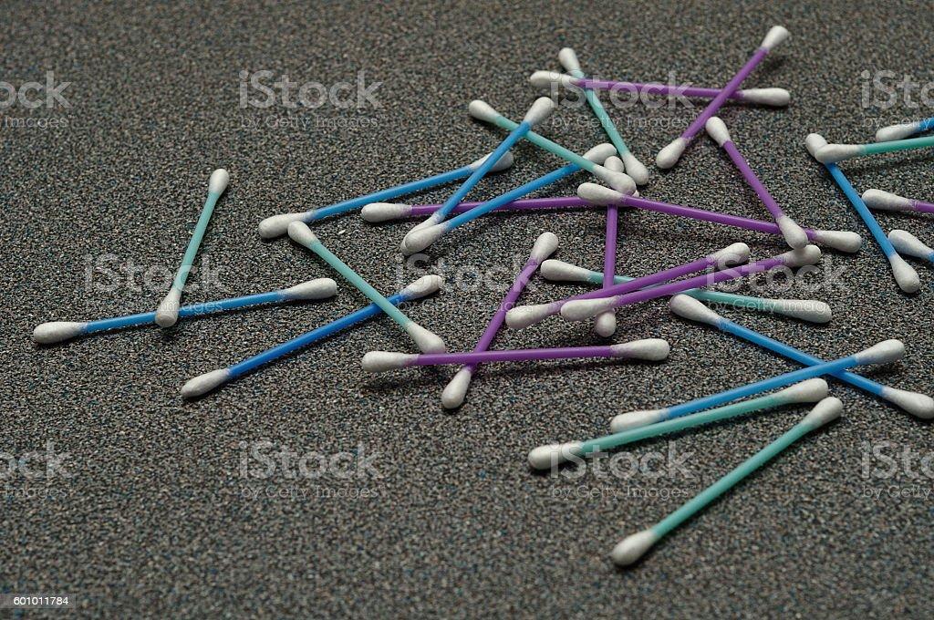 Pile of cotton swabs stock photo