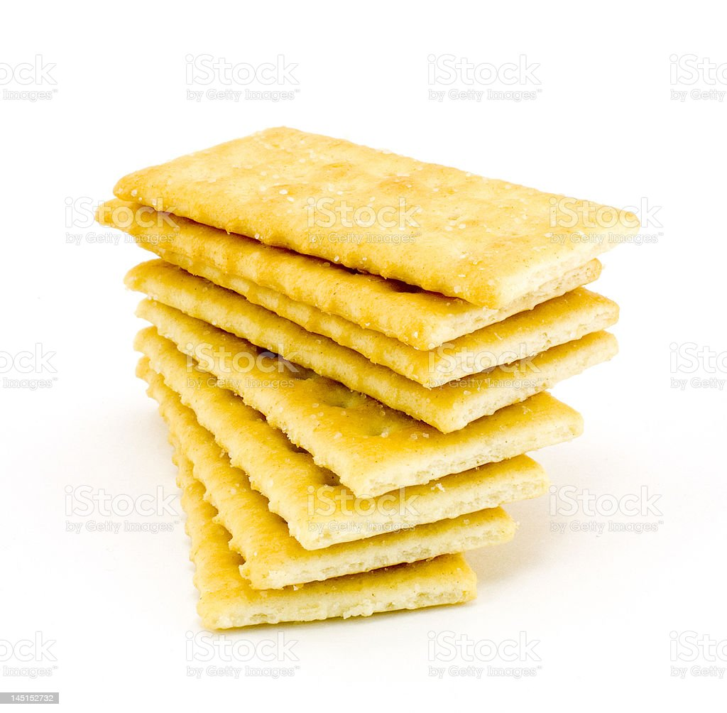 Pile of crackers royalty-free stock photo