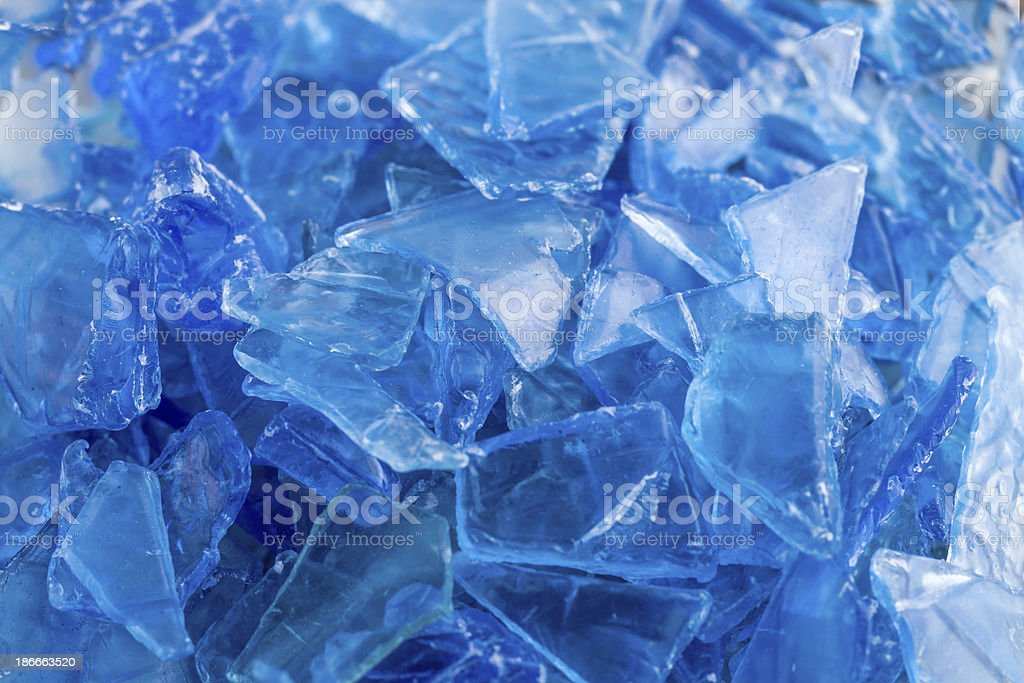 Pile of crushed and recycled plastic stock photo