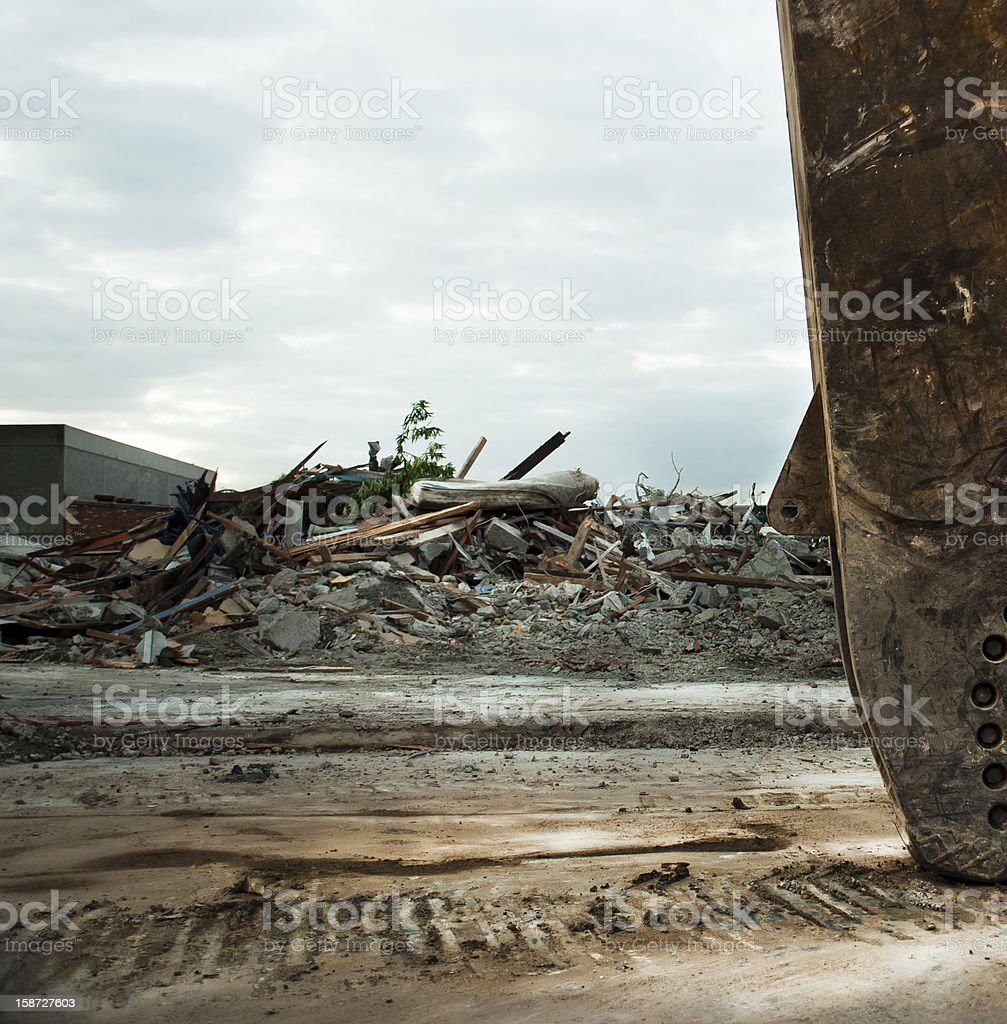 Pile of Debris after Demolition royalty-free stock photo