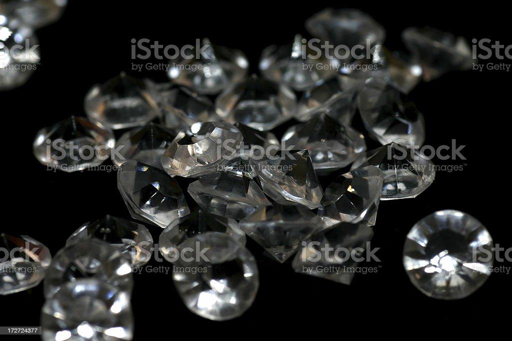 Pile of diamonds stock photo