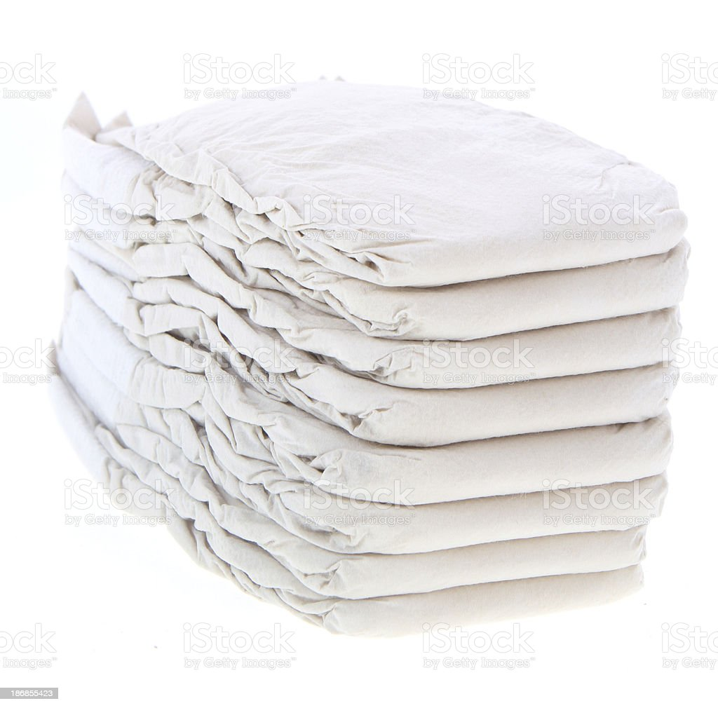 Pile of Diapers / Nappies royalty-free stock photo