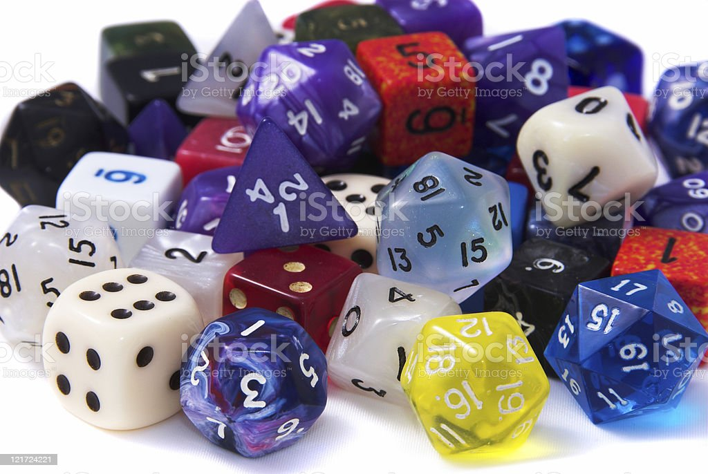 Pile of Dice stock photo