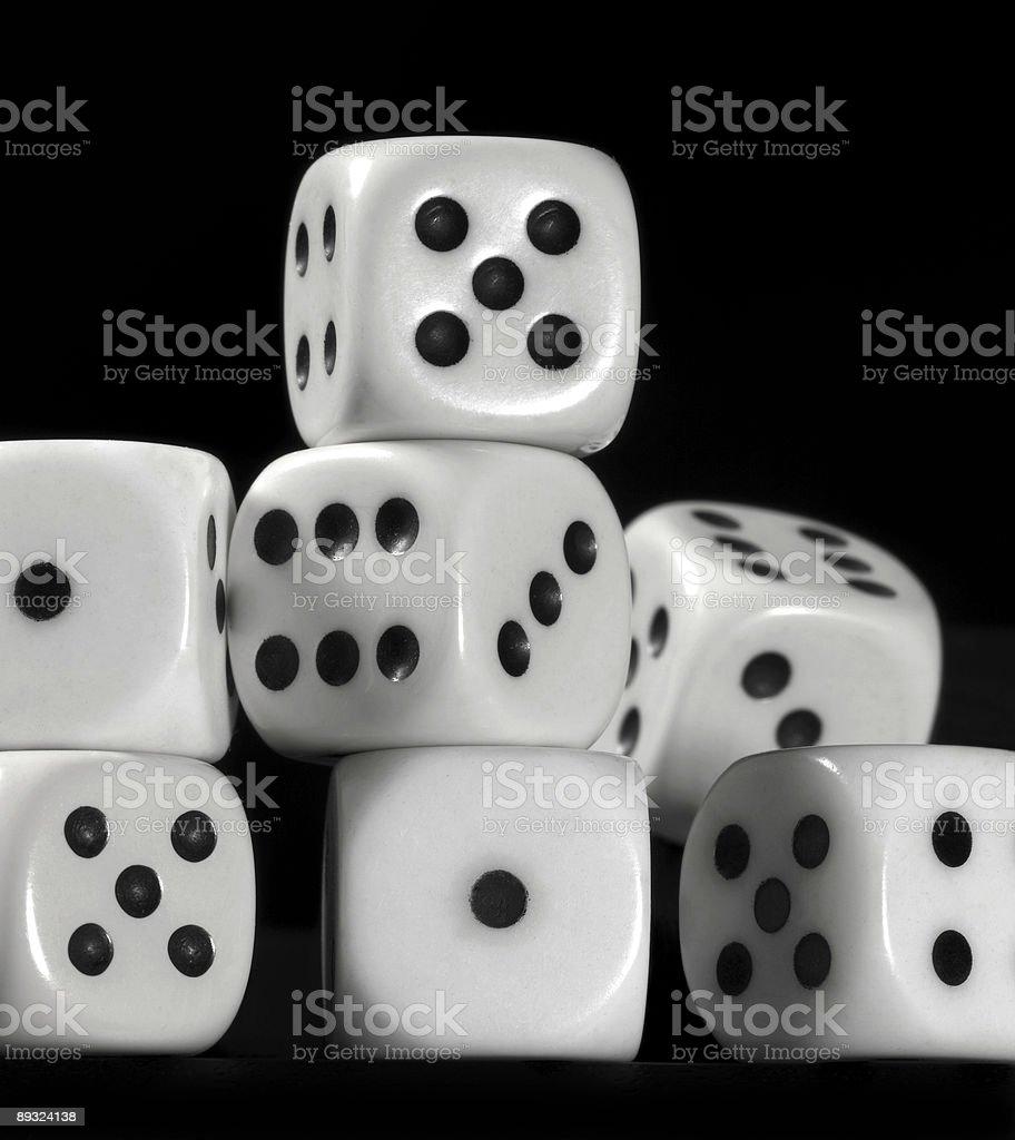 pile of dice stock photo