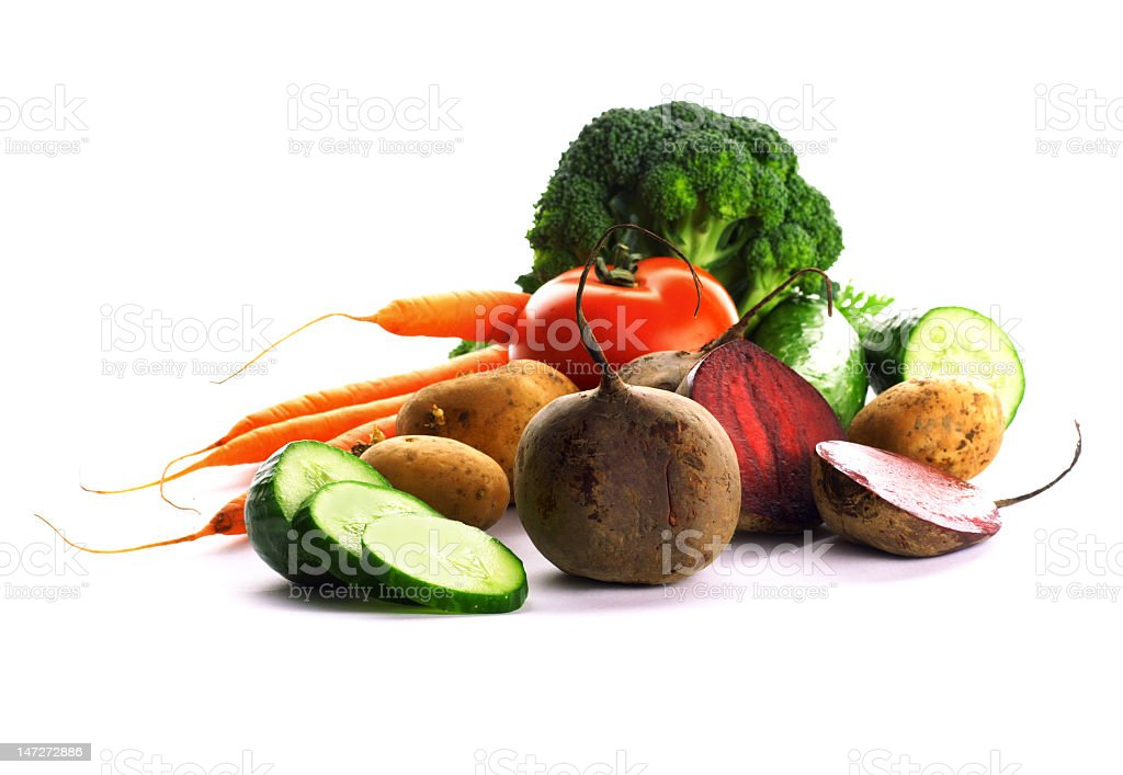 A pile of different vegetables royalty-free stock photo