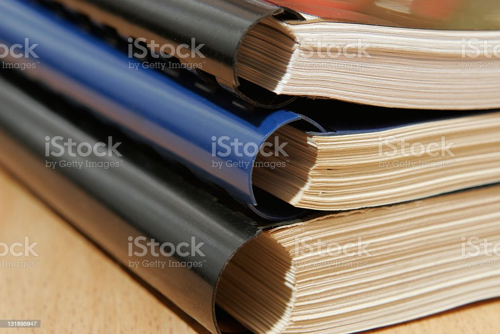 Pile of documents royalty-free stock photo