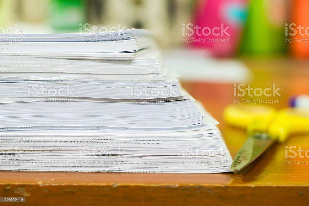 Pile of documents stock photo