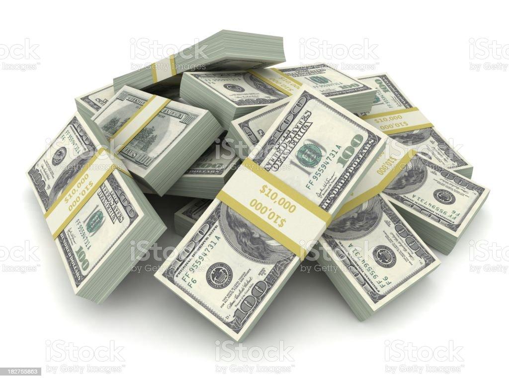 Pile of Dollars royalty-free stock photo