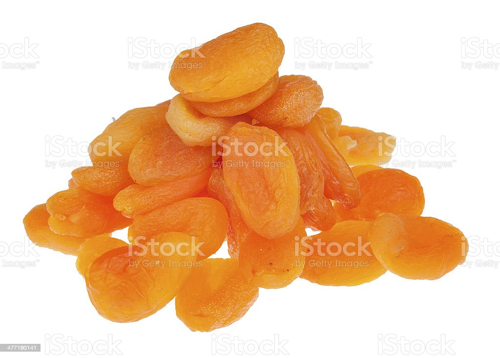 Pile of dried apricots royalty-free stock photo