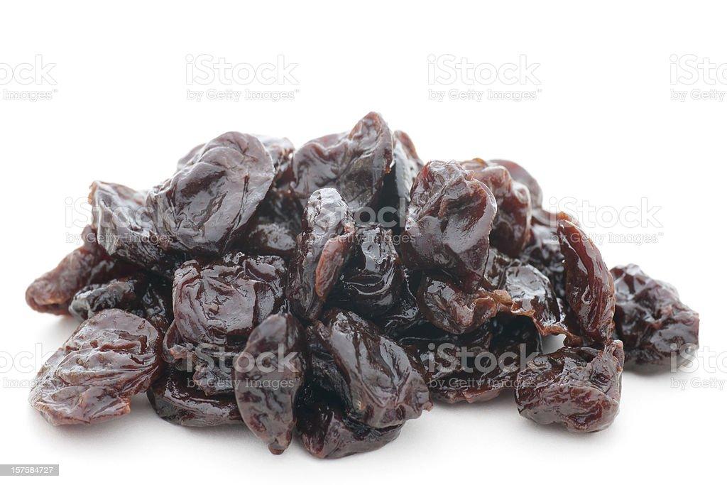 pile of dried cherries stock photo