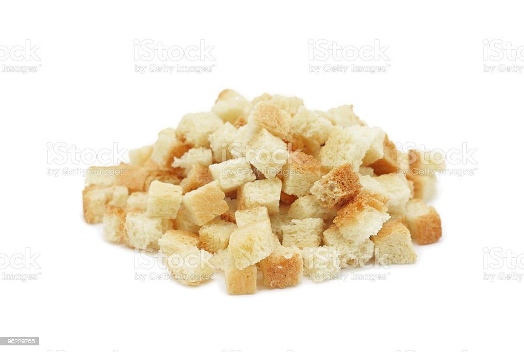 Pile of dried crust, isolated royalty-free stock photo