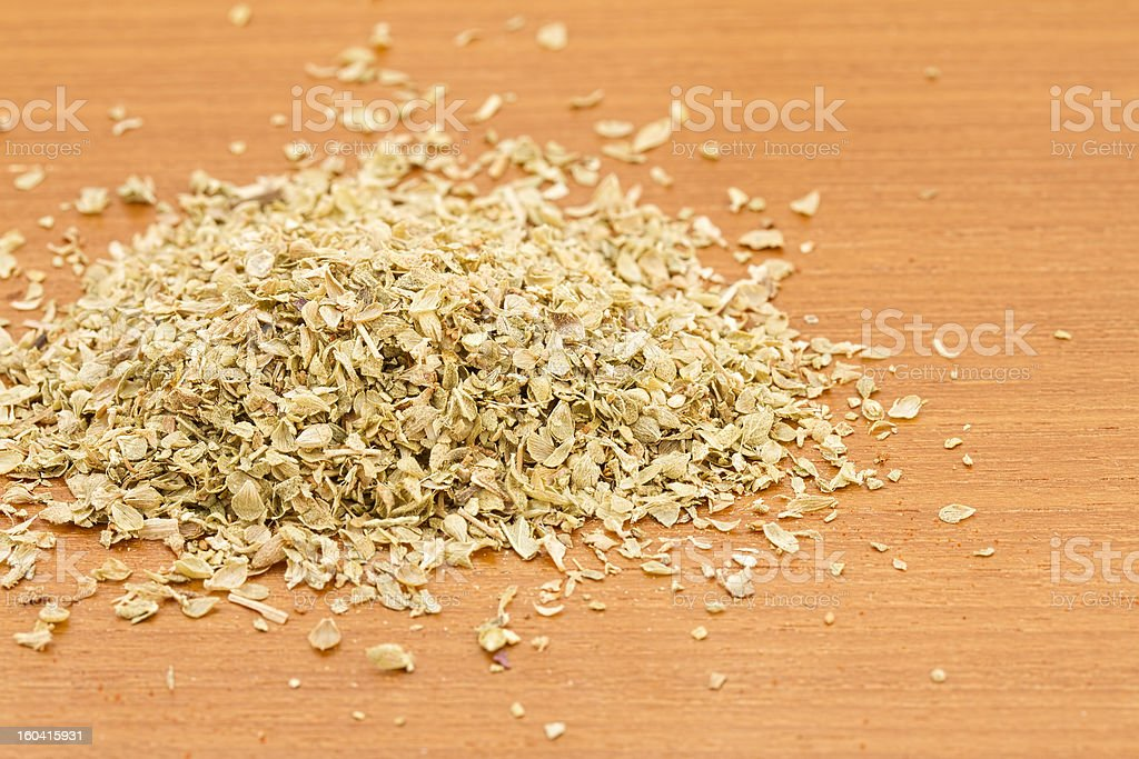 Pile of dried oregano royalty-free stock photo