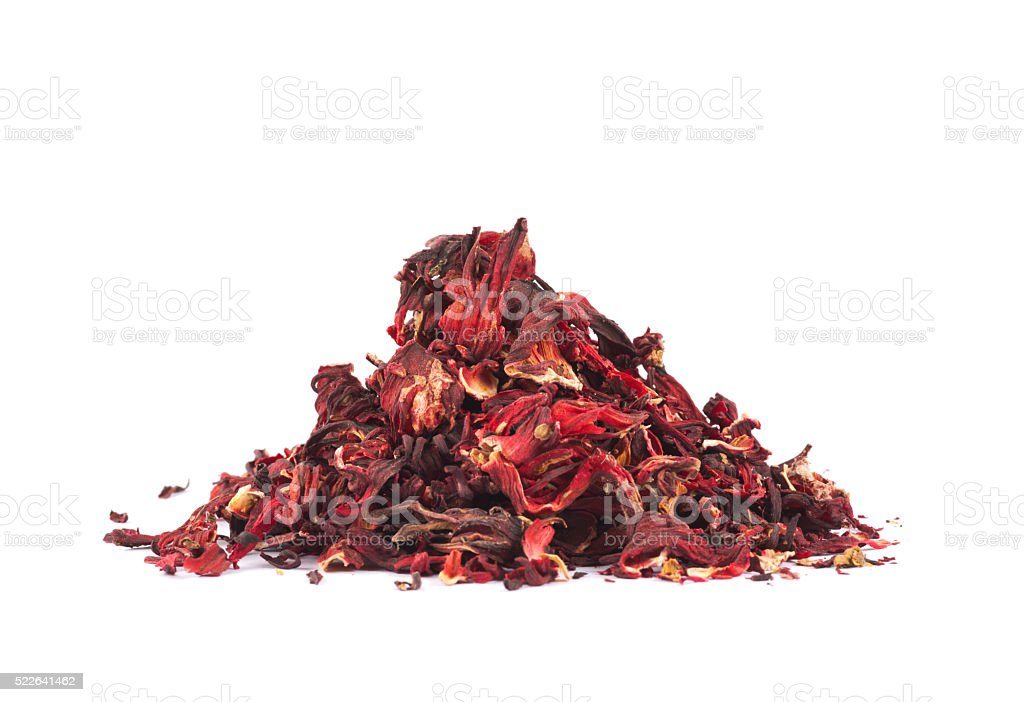 Pile of dried tea leaves stock photo