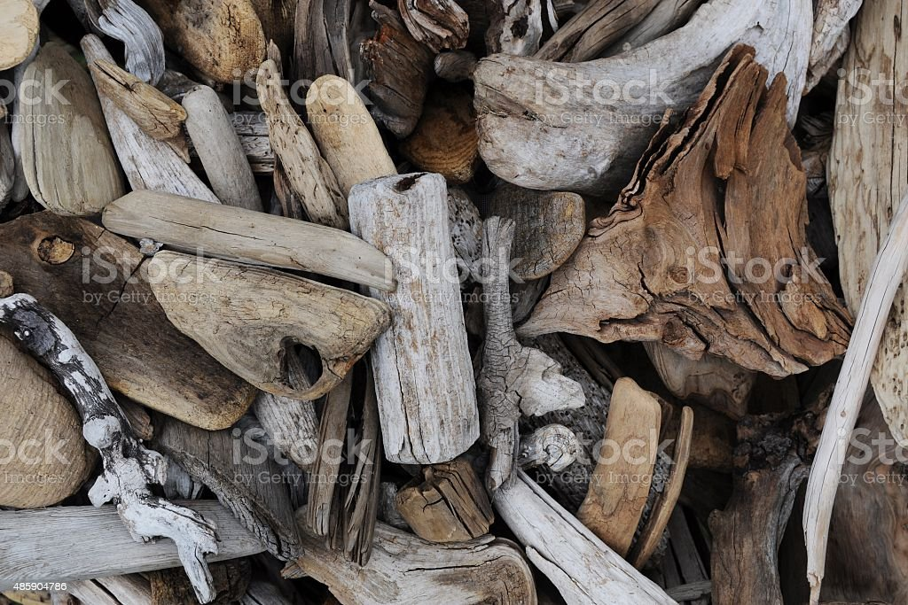 Pile Of Driftwood stock photo