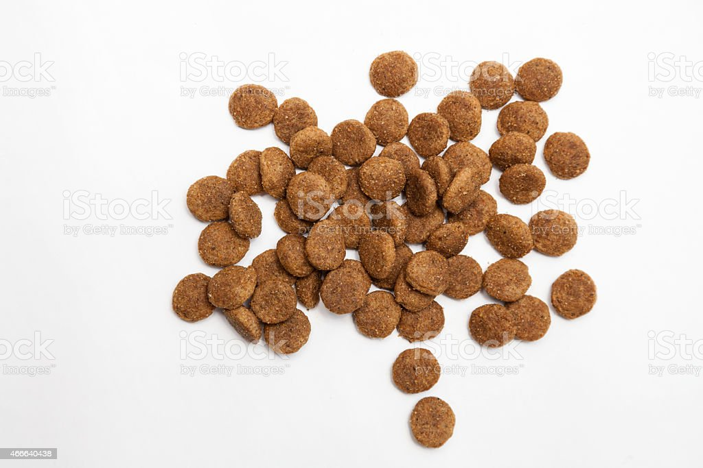Pile of Dry Pet Food stock photo