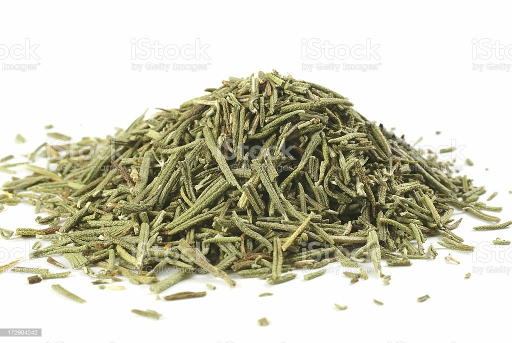 pile of dry rosemary royalty-free stock photo